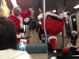 drunk santas on bart