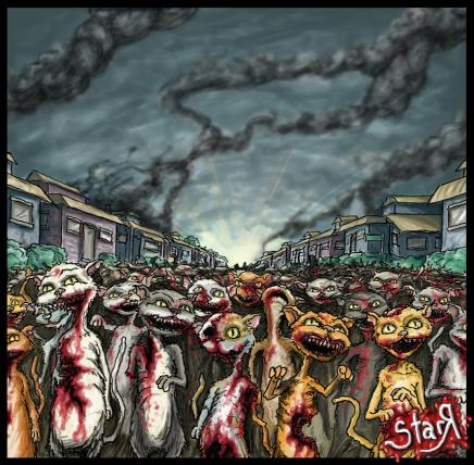 Zombie_Cat_Apocalypse_by_DickStarr