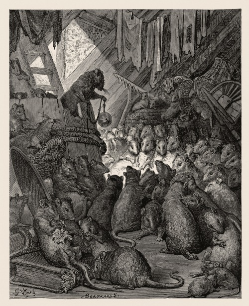 The Council of the Rats, Gustav Dore