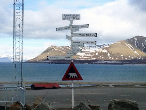 Longyearbyen Airport Destinations Sign
