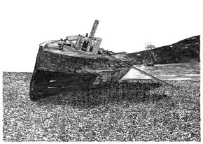 abandoned vessel,  Skansbukta, Billefjord, Spitsbergen, SvalbardArchipelago
